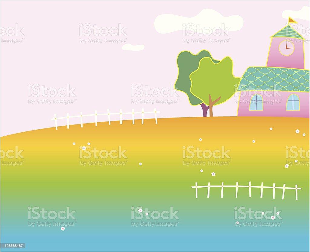 fancy landscape royalty-free stock vector art