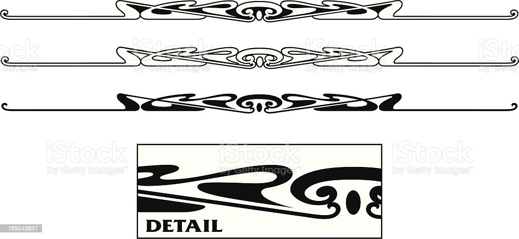 Fancy Ornate Rules royalty-free stock vector art