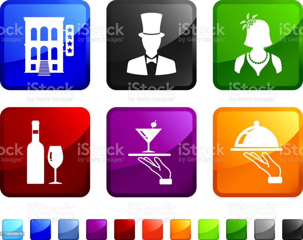 Fancy Party vector icon set royalty-free stock vector art
