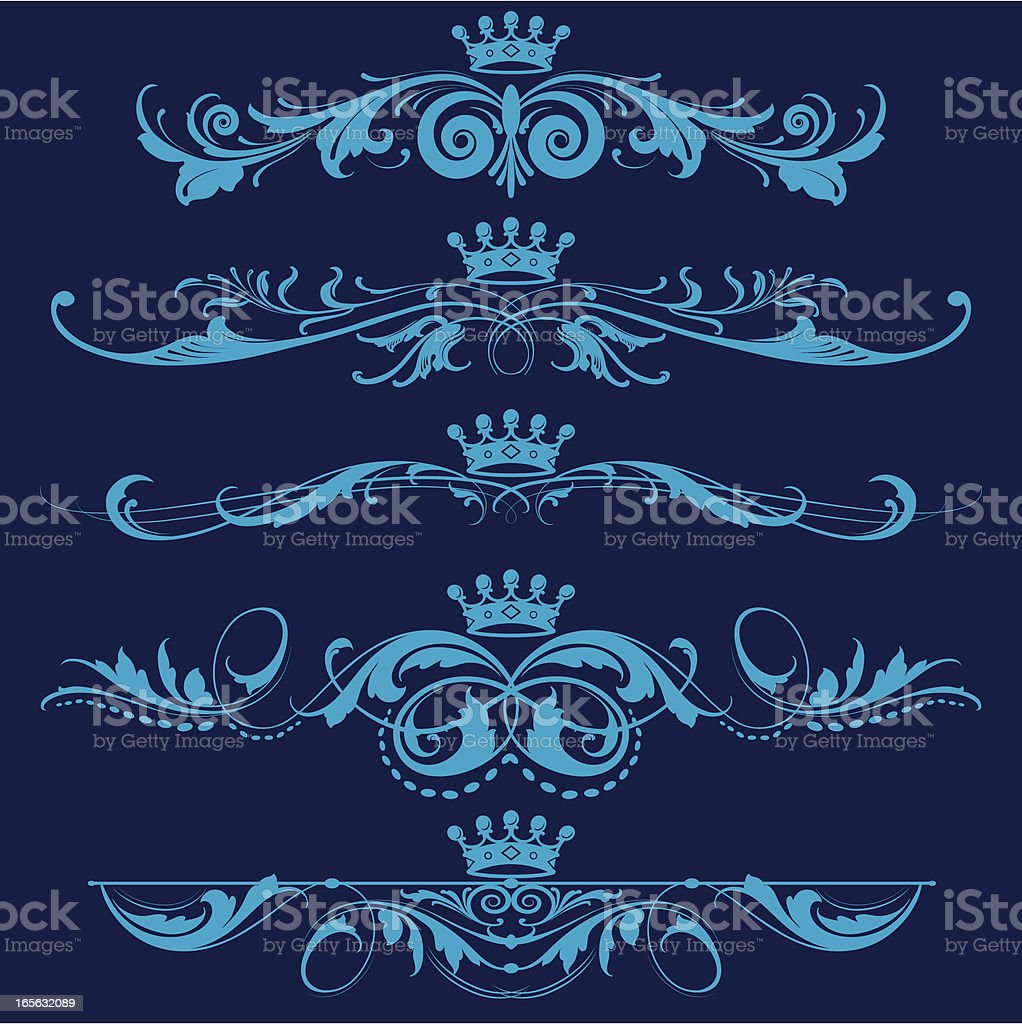 Fancy Royal Elements royalty-free stock vector art