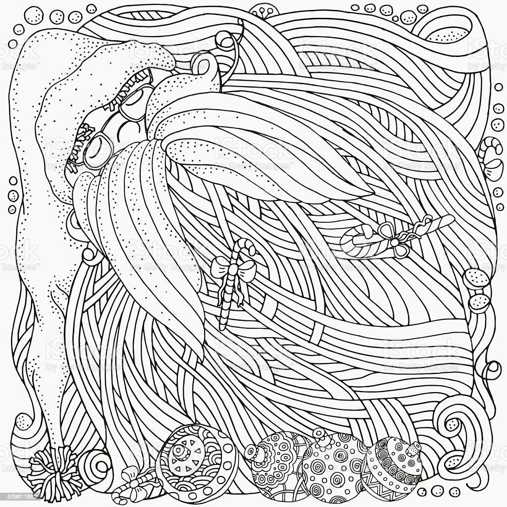Ilustración de Enredado Lujoso Santa Con Barba Navidad Dulces y más ...