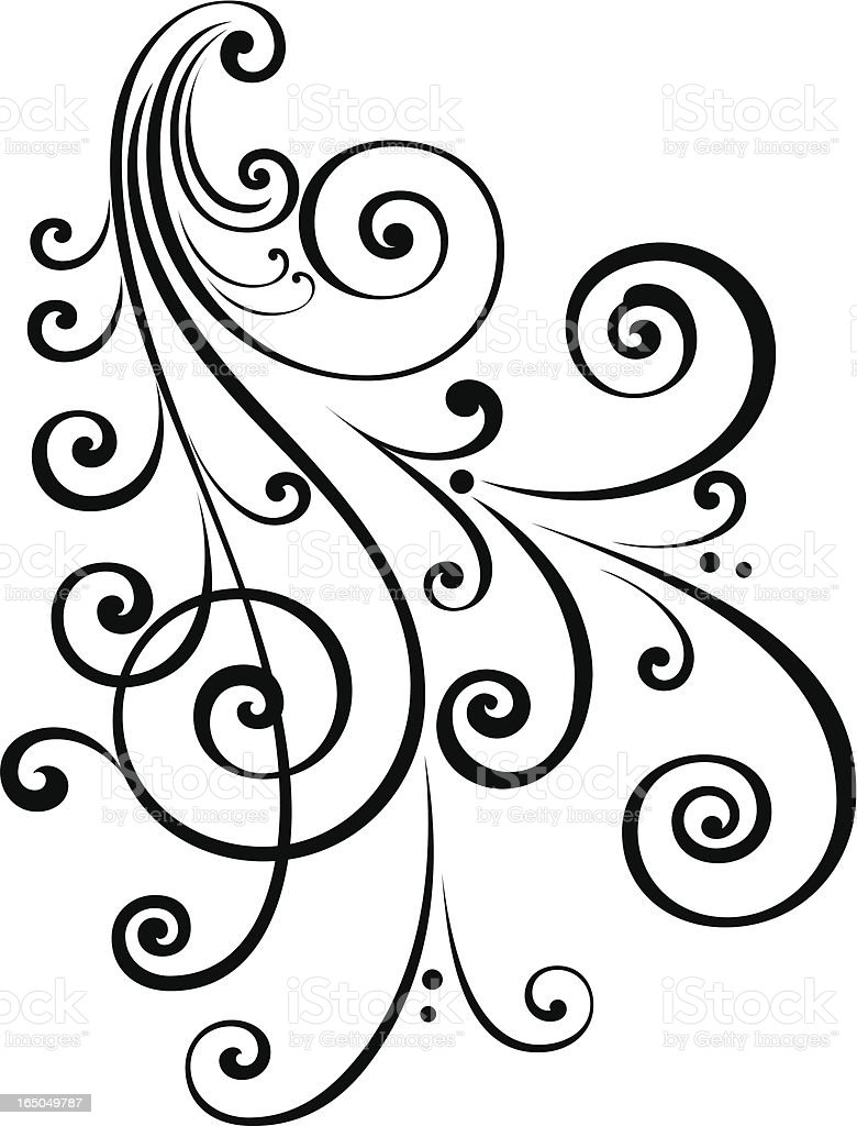 fancy scroll design stock vector art more images of angle rh istockphoto com funny clip art images funny clip art
