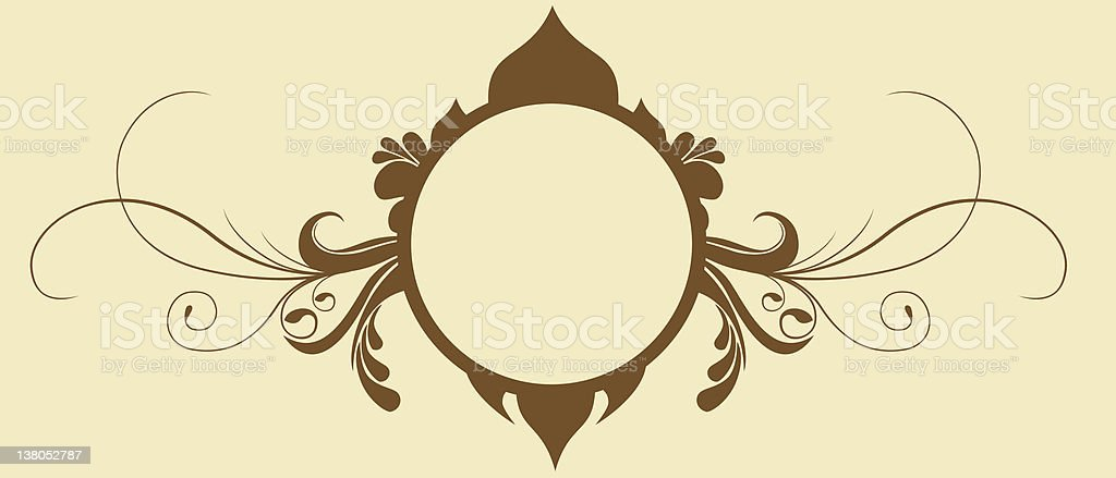 fancy scroll frame royalty-free stock vector art
