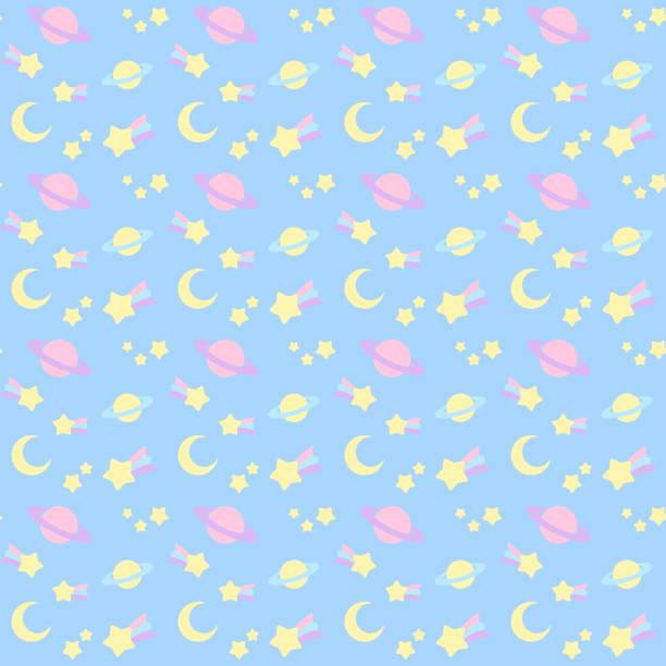 Fancy space seamless pattern vector art illustration