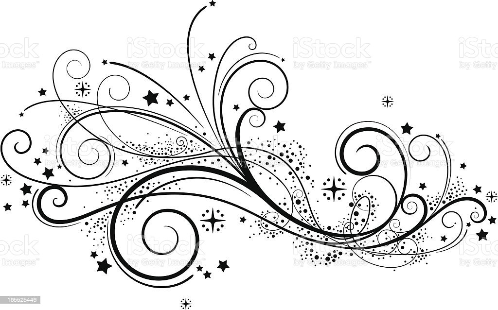 Fancy Swirls vector art illustration