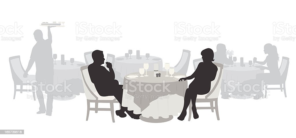 Fancy Vector Silhouette royalty-free stock vector art