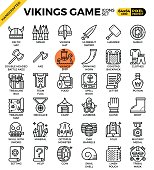 Fancy vikings game icons