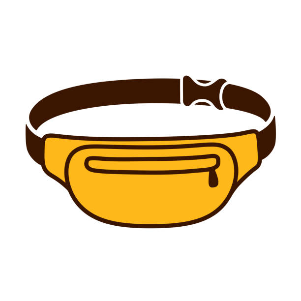 stockillustraties, clipart, cartoons en iconen met fanny pack illustratie - street style