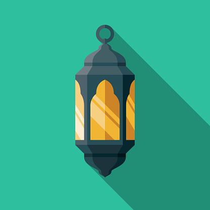 Fanous Flat Design Ramadan Icon