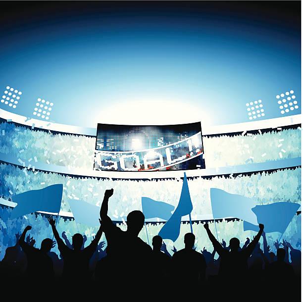 fans feiert tor - fussball fan stock-grafiken, -clipart, -cartoons und -symbole