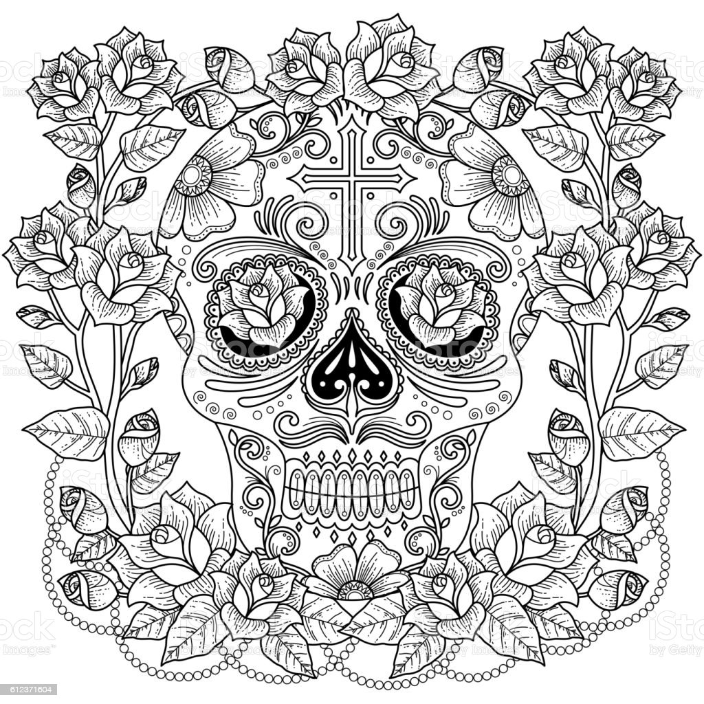 fantastic coloring page stock illustration