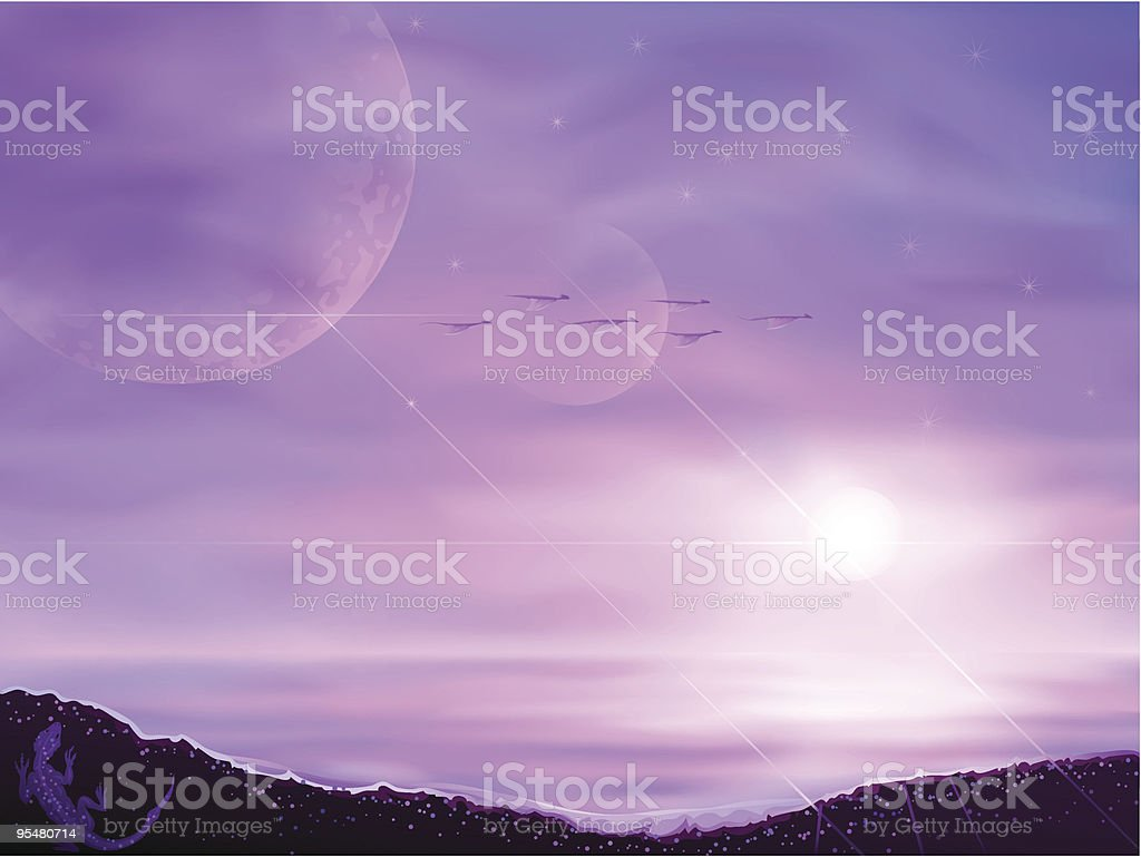Fantastic alien world royalty-free fantastic alien world stock vector art & more images of alien