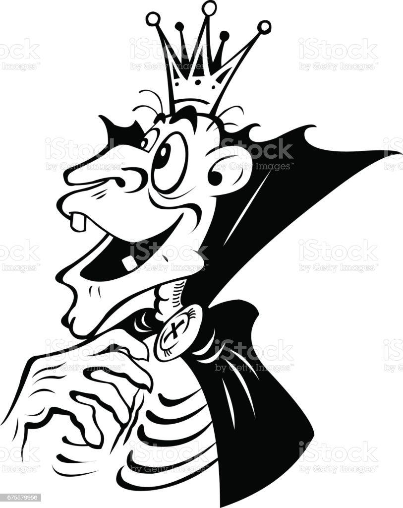 Fantastic cartoon monster-skeleton. Isolated on white background. fantastic cartoon monsterskeleton isolated on white background – cliparts vectoriels et plus d'images de adulte libre de droits