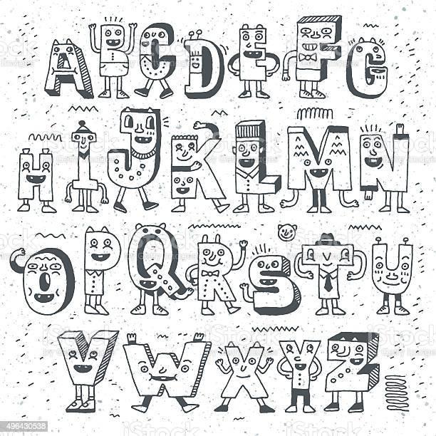 Fantastic funny alphabet wacky doodle letters design set vector id496430538?b=1&k=6&m=496430538&s=612x612&h=wjbtwgvgegyjns6u5a2 fa 4 pgn  vcqgqmr2av4k8=