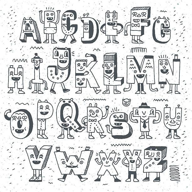 ファンタスティックルーム面白いまでつながっているようです。奇妙な落書き状デザインセット。 - 漫画のモンスター点のイラスト素材/クリップアート素材/マンガ素材/アイコン素材