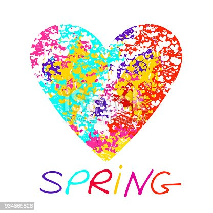 Amazing spring concept background for romantic design