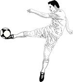fantastic shoot of soccer player