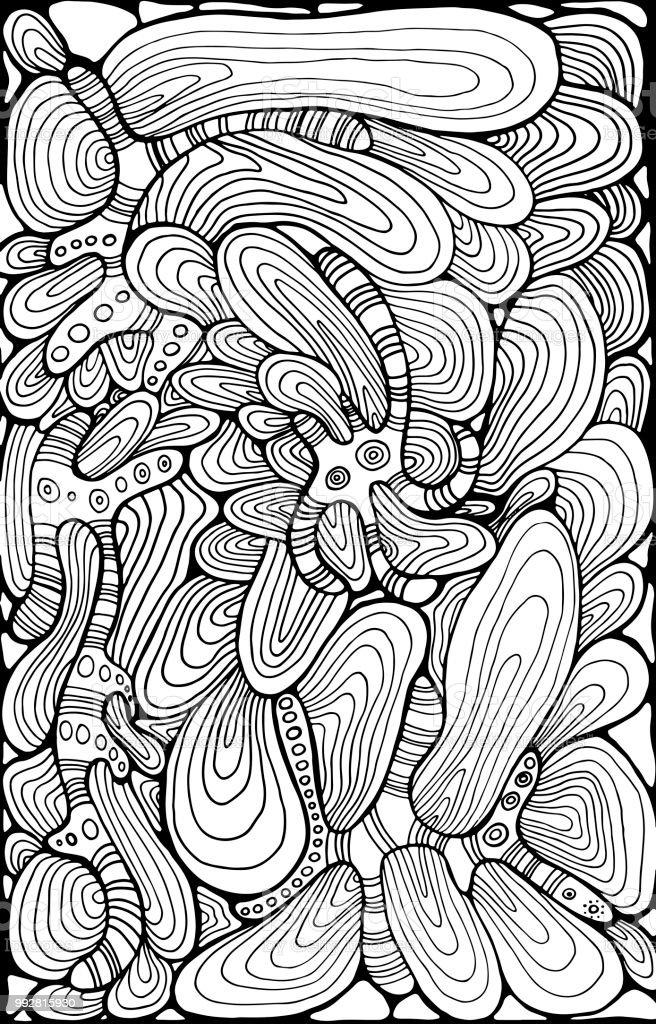 Vetores De Ornamento Fantasia Abstrato Ondulado Pagina Para