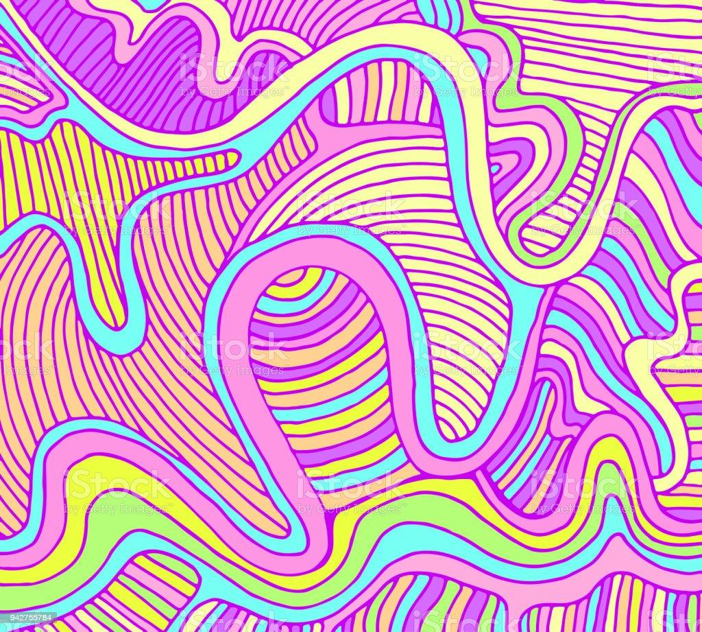 Fantasy abstrakt Welle Hintergrund, Pastellfarben. – Vektorgrafik