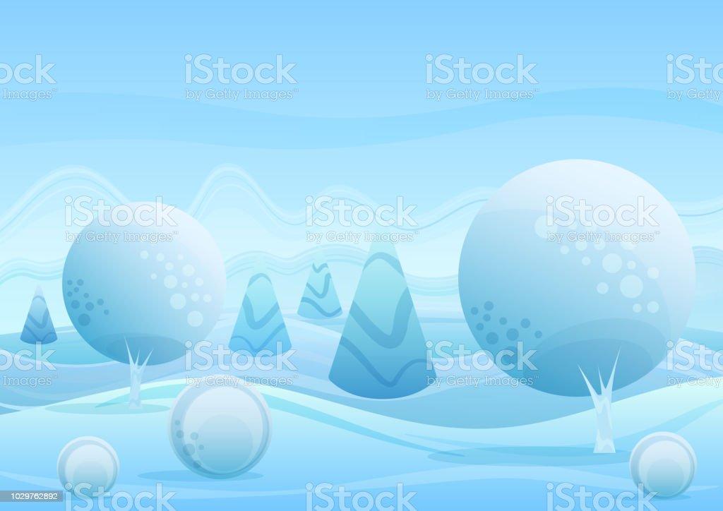 Dibujos Impresionantes De Navidad.Ilustracion De Impresionante Fondo De Paisaje De Invierno