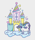 fantasy and magic world icon vector illustration graphic design magic and Fantasy girl world cute fairy tale