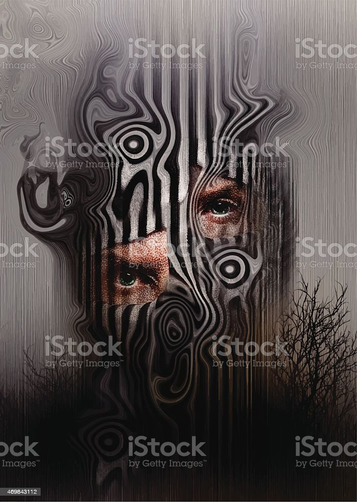 Fantasy Background vector art illustration