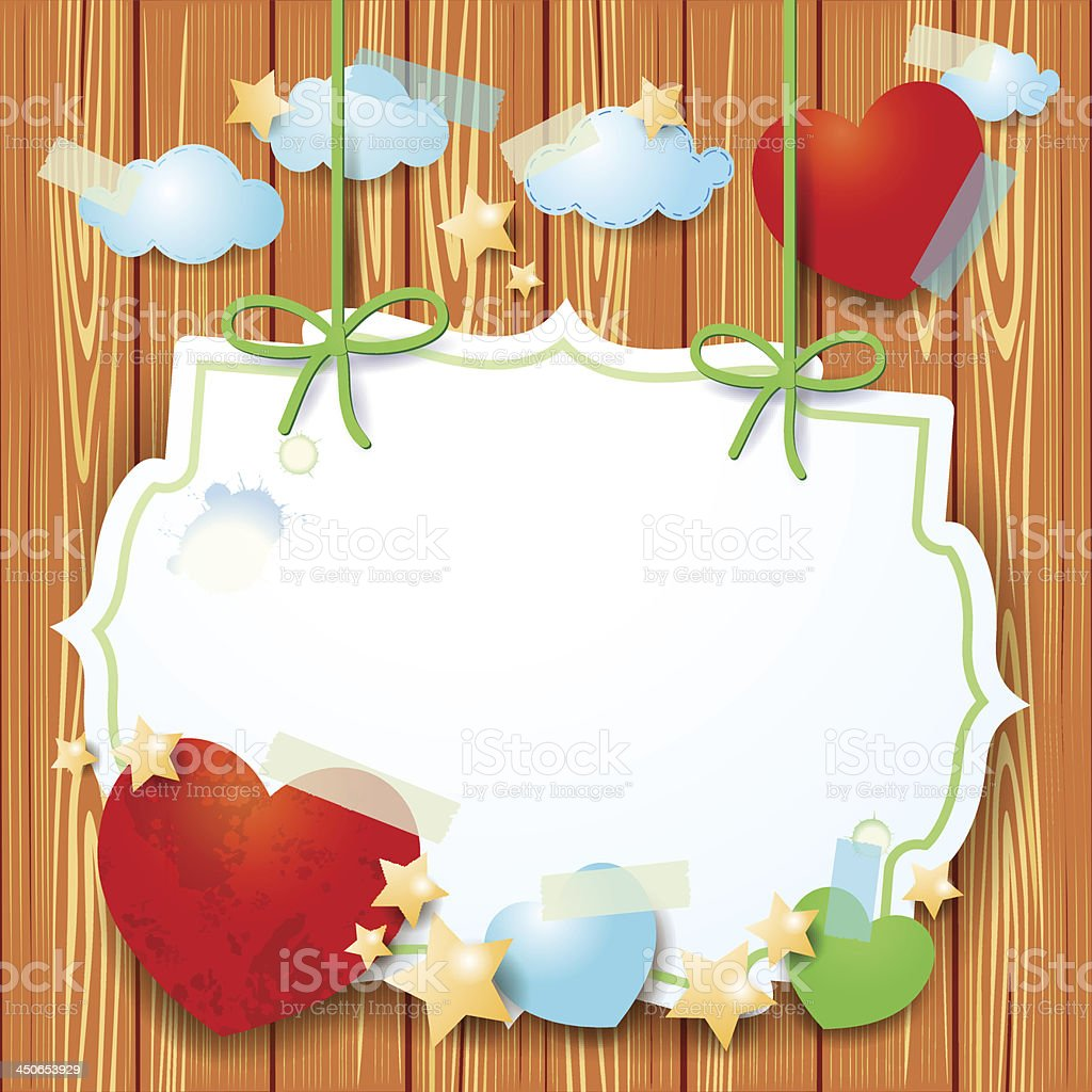 Fantasy background with hearts royalty-free stock vector art