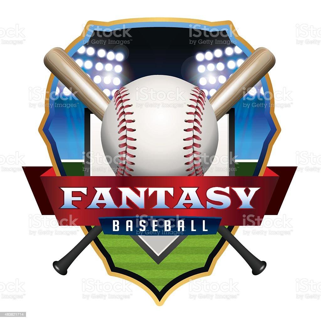 Fantasy Baseball Emblem Illustration vector art illustration