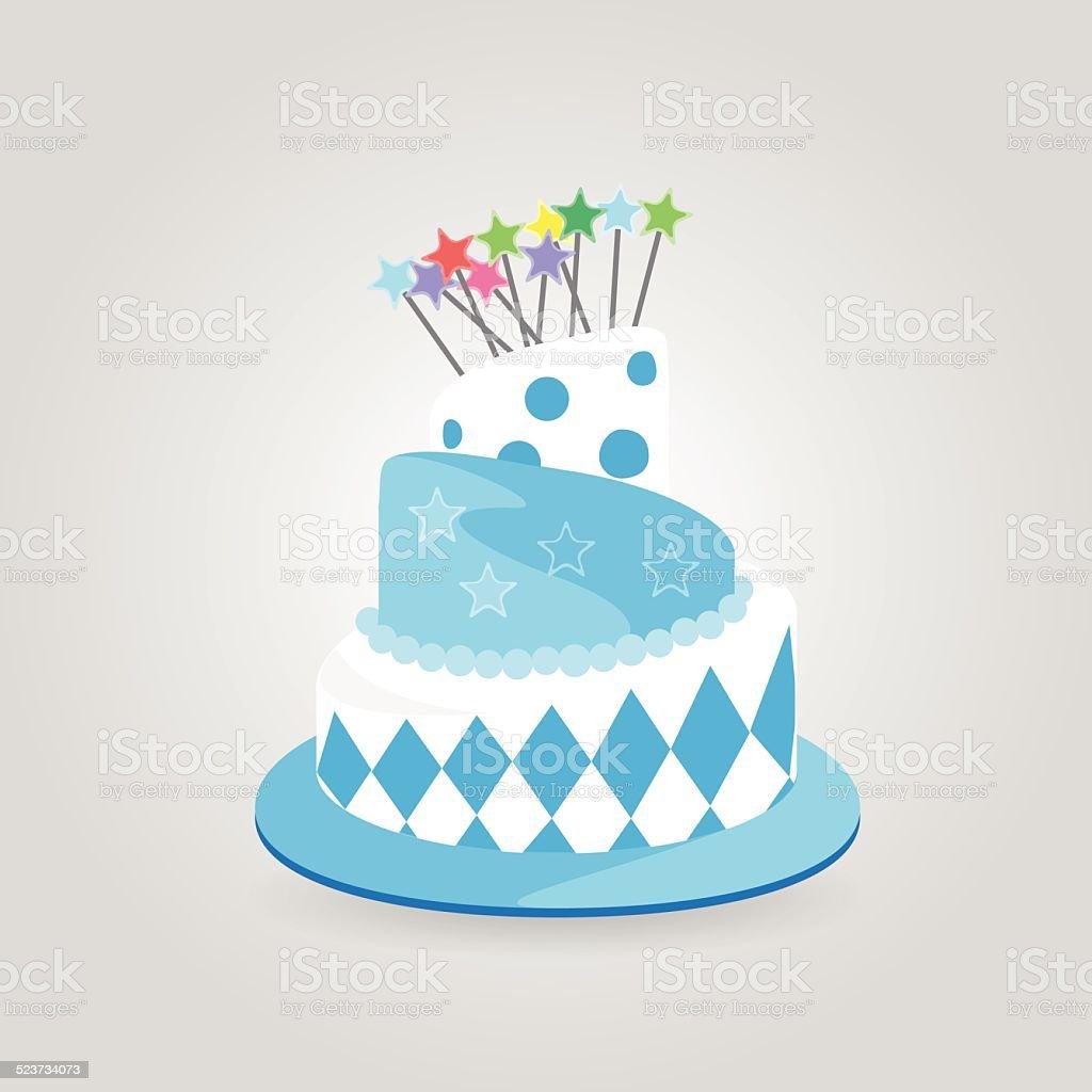 Fantasy Birthday Cake Stock Vector Art More Images Of Anniversary