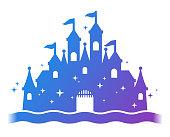 istock Fantasy Castle Silhouette 998666626