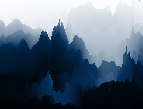 Fantasy Chinese painting mountain pattern background