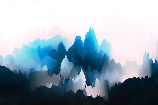 Fantasía china pintura acuarela patrón de acuarela fondo