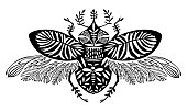 Fantasy Creature Beetle With Decorative Wings