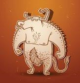 Fantasy creature minotaur