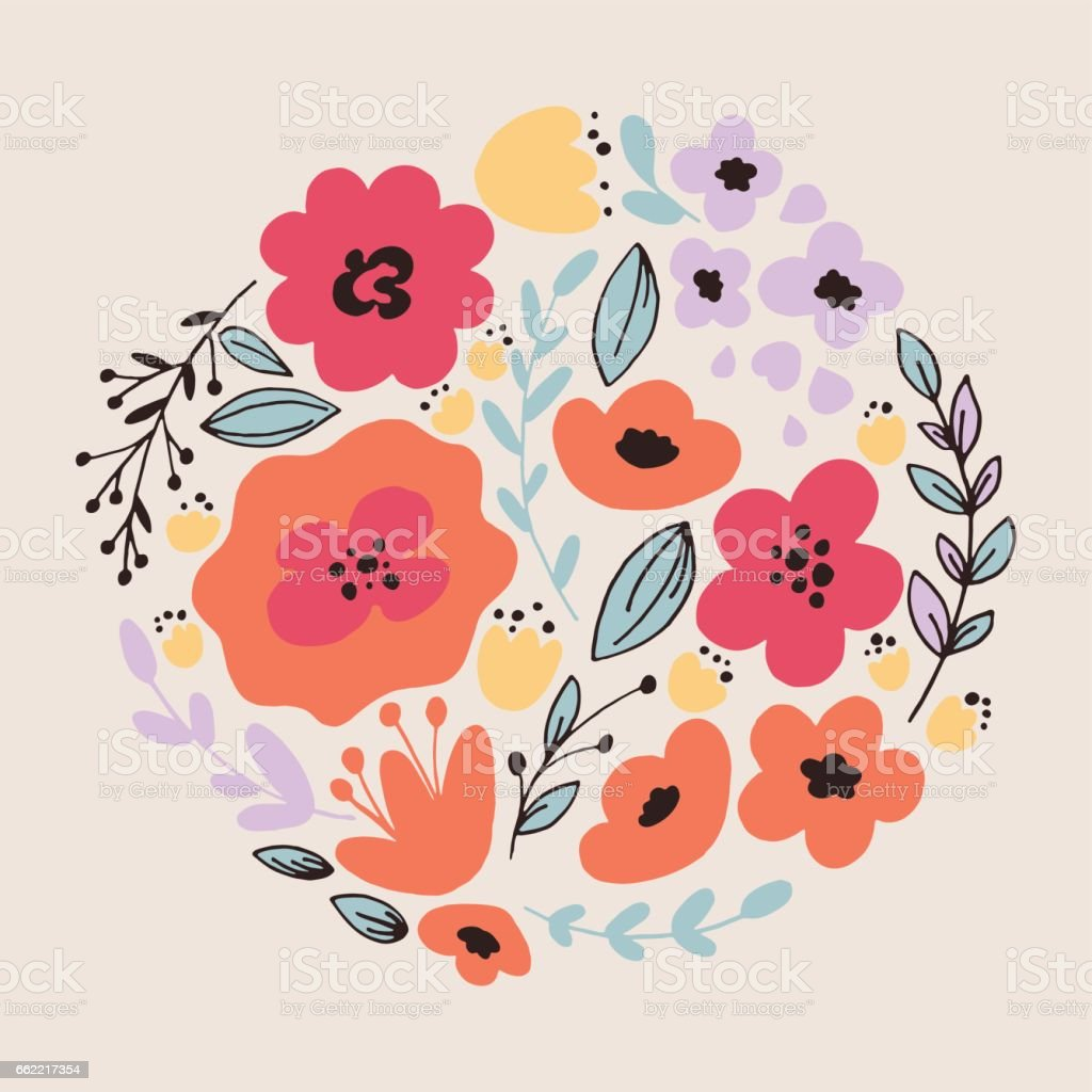 Fantasy flowers card royalty-free fantasy flowers card stock vector art & more images of abstract