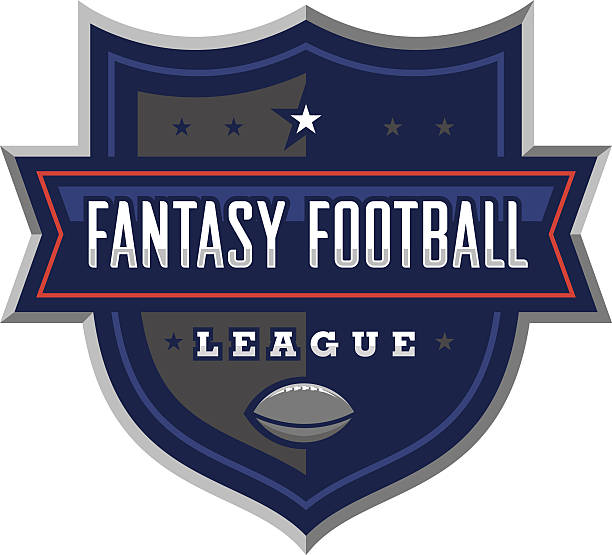 Fantasy Football League Logo vector art illustration