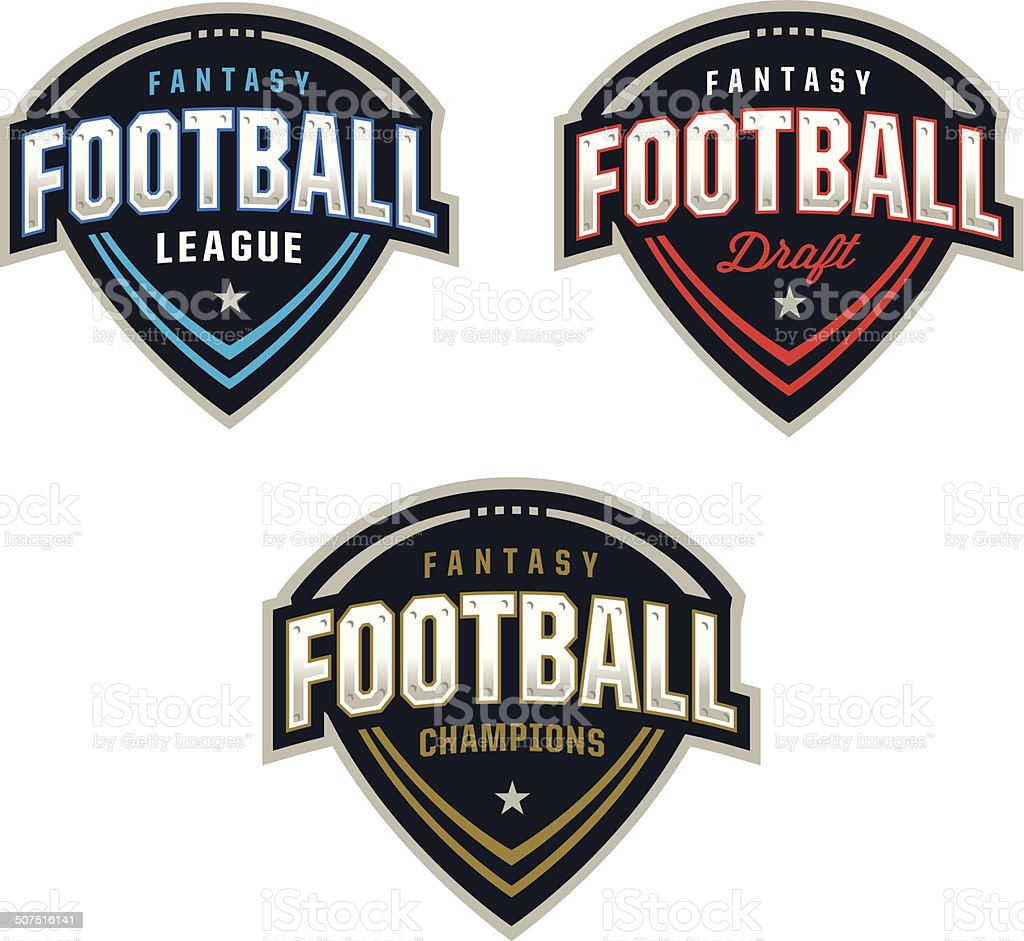Fantasy Football Logos vector art illustration