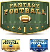 Fantasy football concepts. EPS 10 file. Transparency effects used on highlight elements.