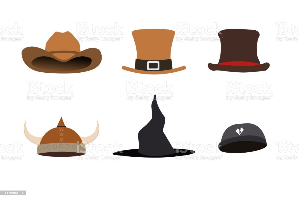 Les Chapeaux De Fantaisie Ont Réglé Lillustration De Vecteur