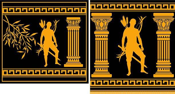fantasy hellenic warrior  greco roman style stock illustrations