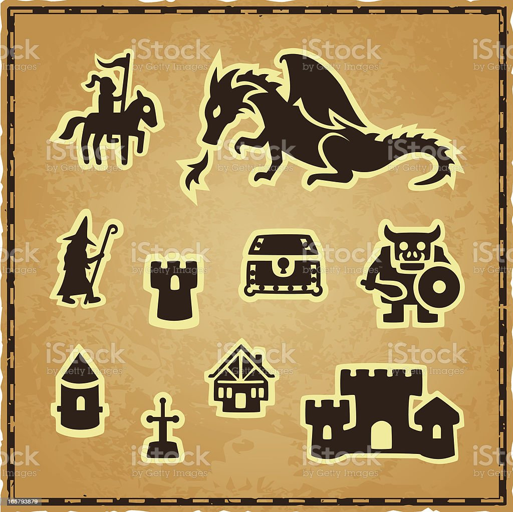 Fantasy map icons stock vector art more images of ancient fantasy map icons royalty free fantasy map icons stock vector art amp more images biocorpaavc Image collections