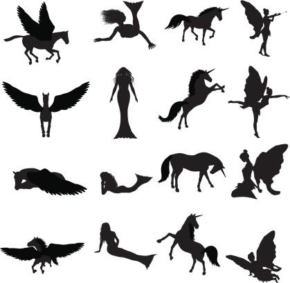 Fantasy Silhouette Collection (vector+jpg)