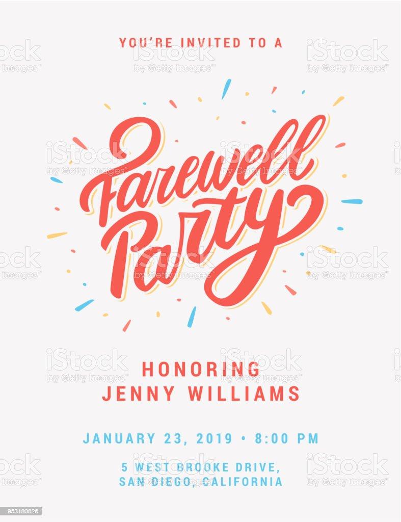 Farewell Party Invitation Stockowe Grafiki Wektorowe I