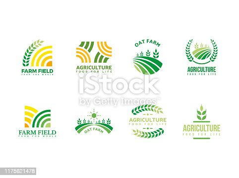 Farm, agriculture, harvest logo template for your needs such a new project, farm symbol, organic icon, website, add to the presentation, print, etc