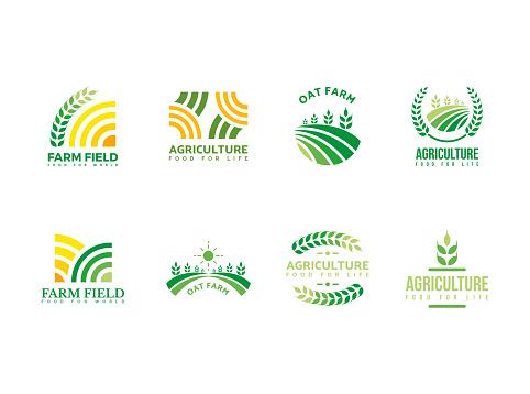 Farm, agriculture, harvest logo template