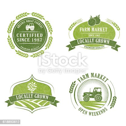 istock Farm And Agriculture Badge or Label 618850612