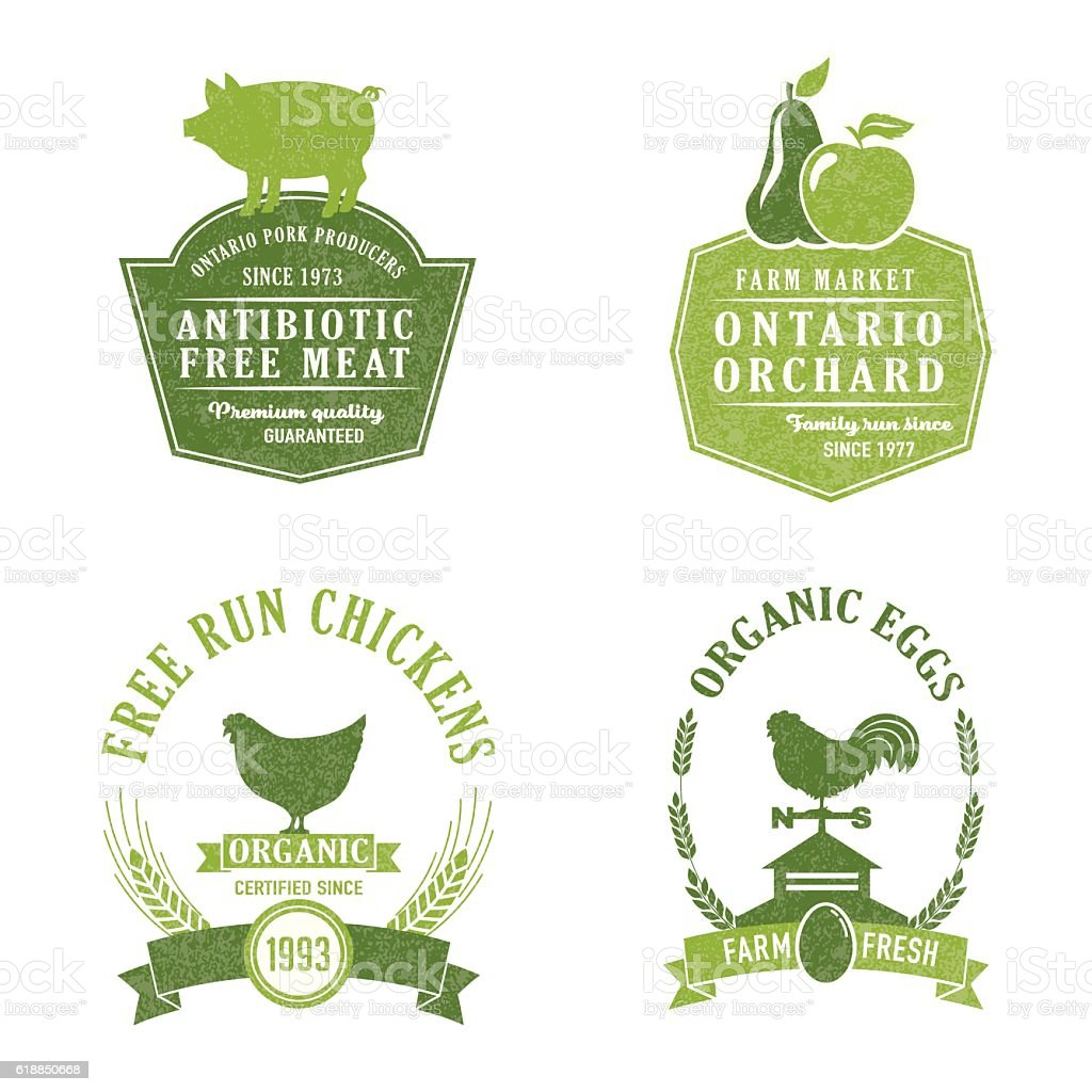 Farm And Agriculture Badge or Label vector art illustration