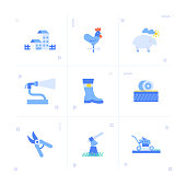 Farm and Agriculture Icon Set