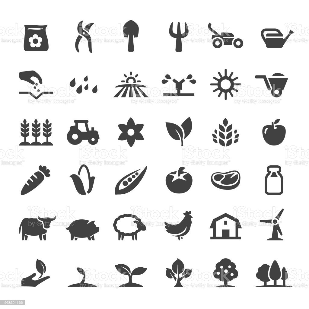 Farm and Agriculture Icons - Big Series vector art illustration
