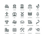 istock Farm and Agriculture Icons - Line Series 1061303176